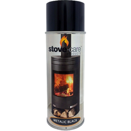 Stove-Care Spray Paint (400ml aerosol) - Metallic Black (single)
