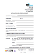 Trade Account Application Form